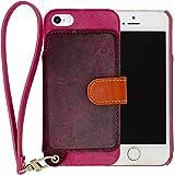 RAKUNI Leather Case for iPhone SE / 5s / 5(ラズベリー(ピンク&パープル))