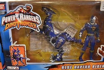 Amazon.com: Power Rangers Dino Thunder Blue Raptor Rider ...