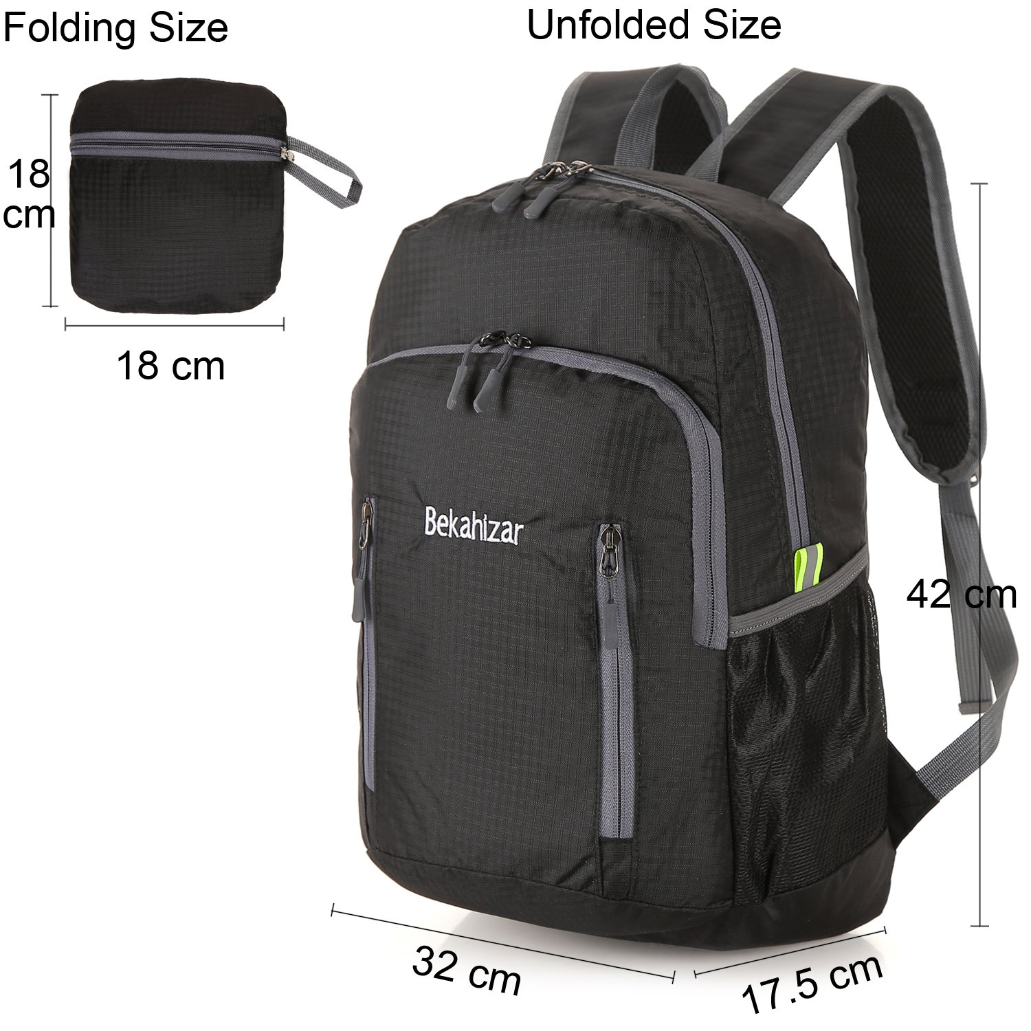 0d1b508623c9 Bekahizar 20L Ultra Lightweight Backpack Foldable Water Resistant Camping  Hiking Outdoor Backpack Daypack Small Rucksack for Men Women Outdoor Hiking  ...
