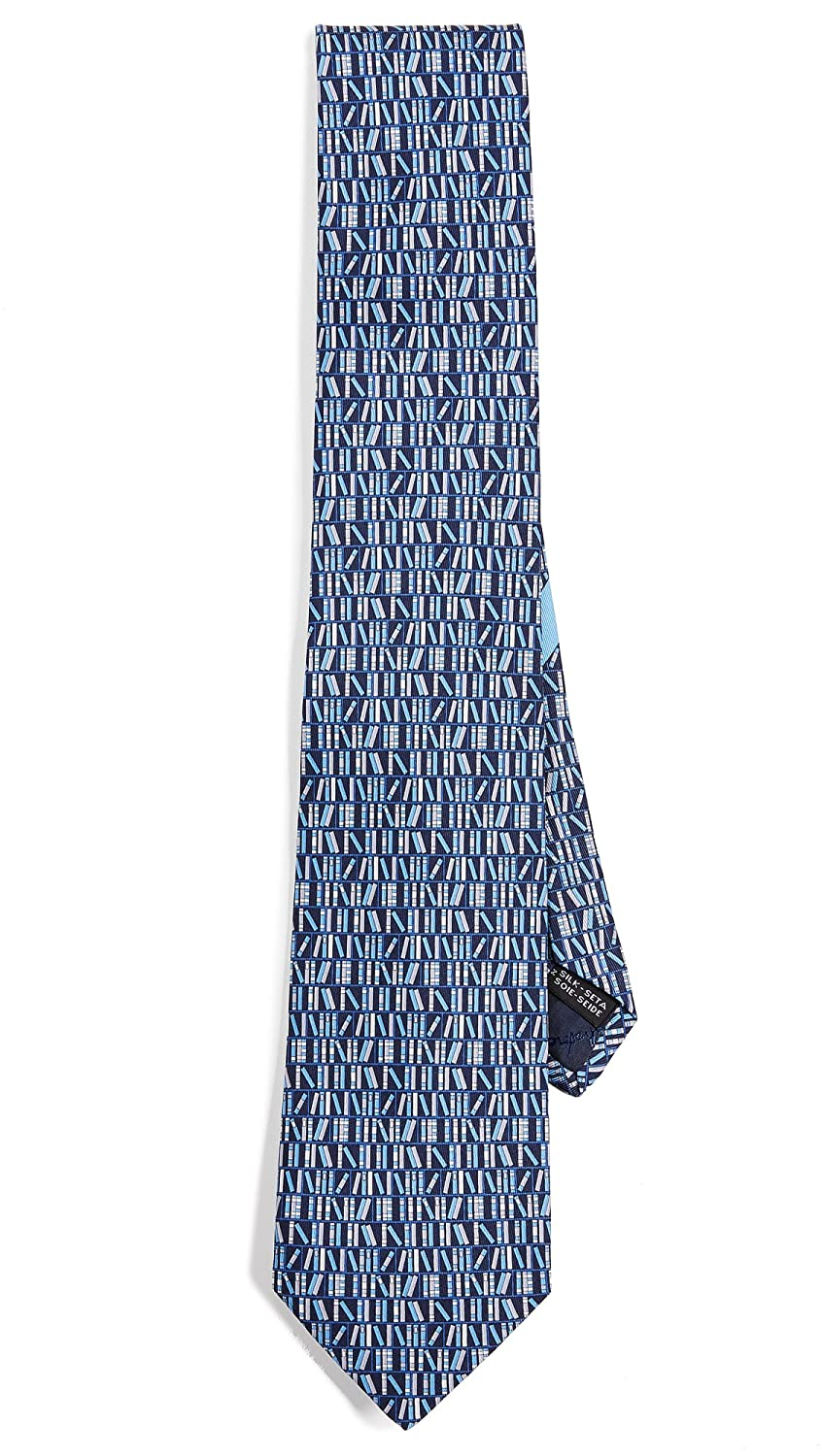 Salvatore Ferragamo Men's Library Tie Blue One Size Salvatore Ferragamo-Men's