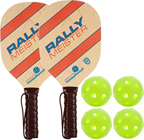 Amazon.com: Rally Meister Pickleball Paddle 2 Player Bundle ...