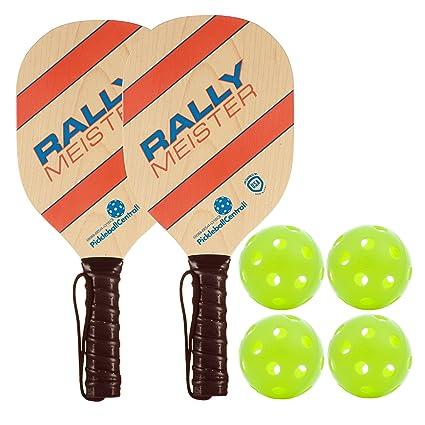 Juego de paletas de madera para pickleball, de Rally Meister