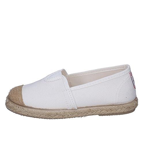 0b2c213bd9560 CIENTA Espadrilles bébé garçon Textile Blanc  Amazon.fr  Chaussures et Sacs