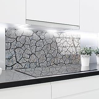 Splashback - Cristal templado resistente al calor endurecido decorativo – 125 x 50 cm – 4 mm de grosor – perfecto detrás de cocinas de gas, cerámica e inducción, fácil de limpiar y colgar cerámica e inducción