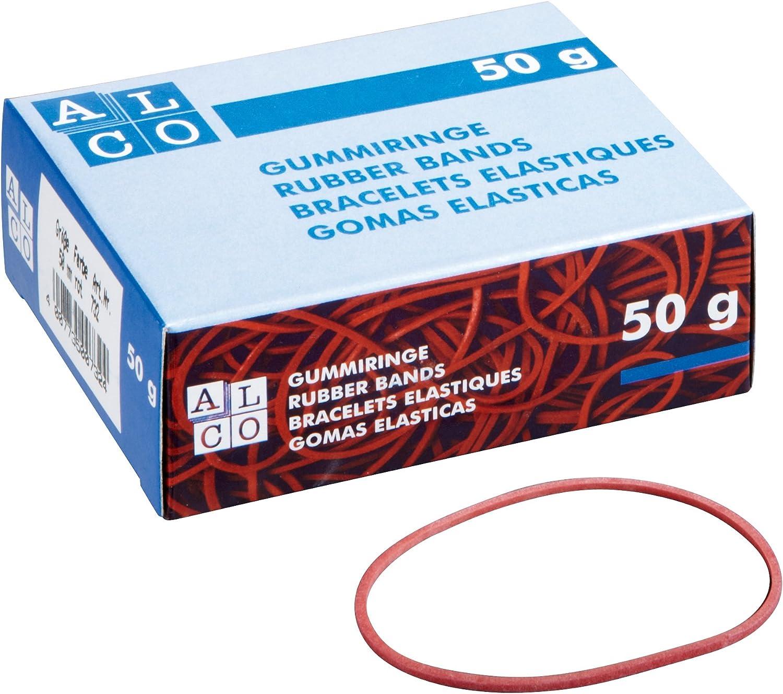 rot Alco 737-1 Gummiringe im Karton /Ø100 mm Inh.50 g