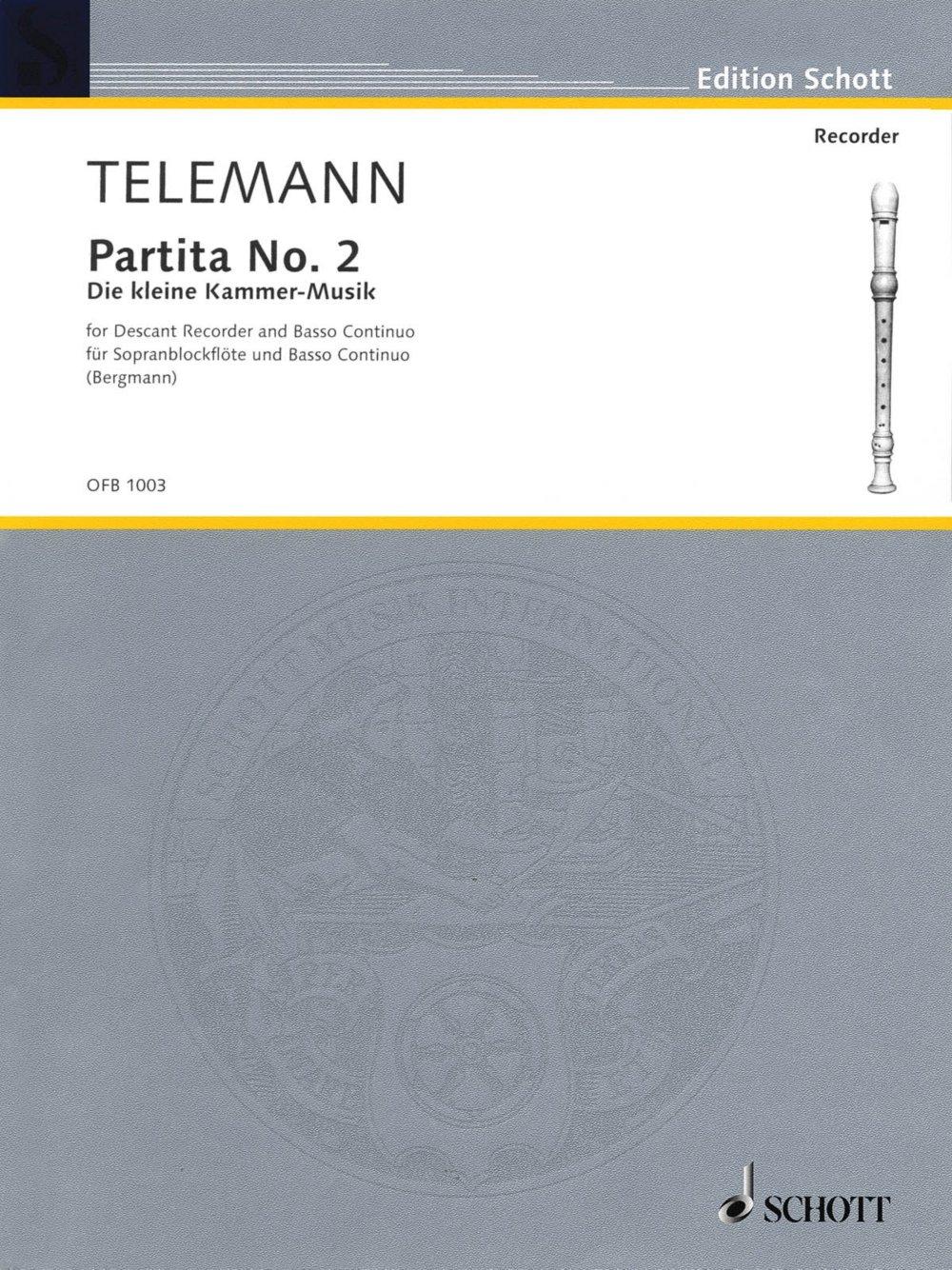 Read Online Schott Partita No. 2 in G Major (Der Kleine Cammer-Musik) Schott Series ebook