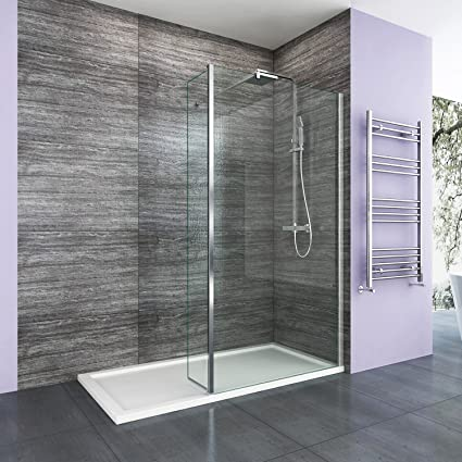 Walk In Shower Panels.1000mm Walk In Wetroom Shower Enclosure 8mm Easy Clean Glass Screen Panel With 300mm Return Panel