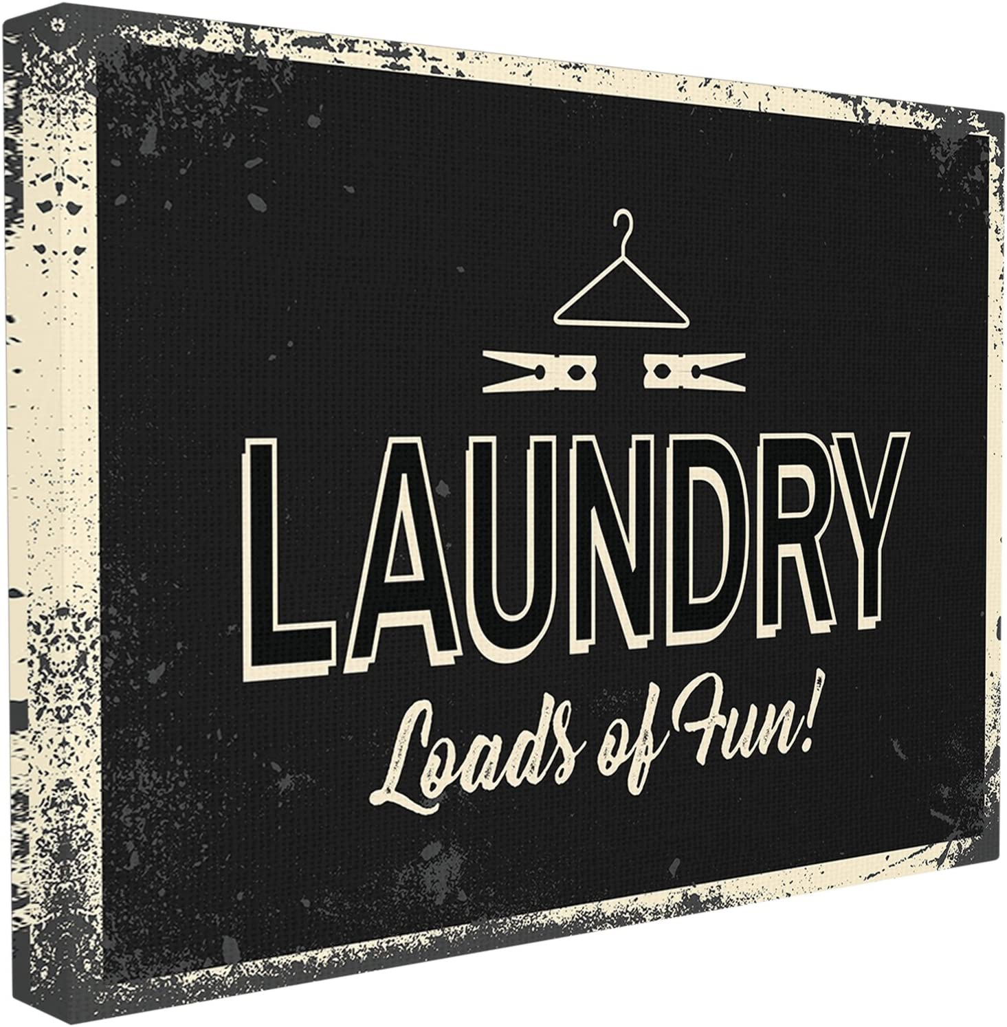 Proudly Made in USA Stupell Industries Laundry Loads of Fun Industrial Oversized Wall Plaque Art