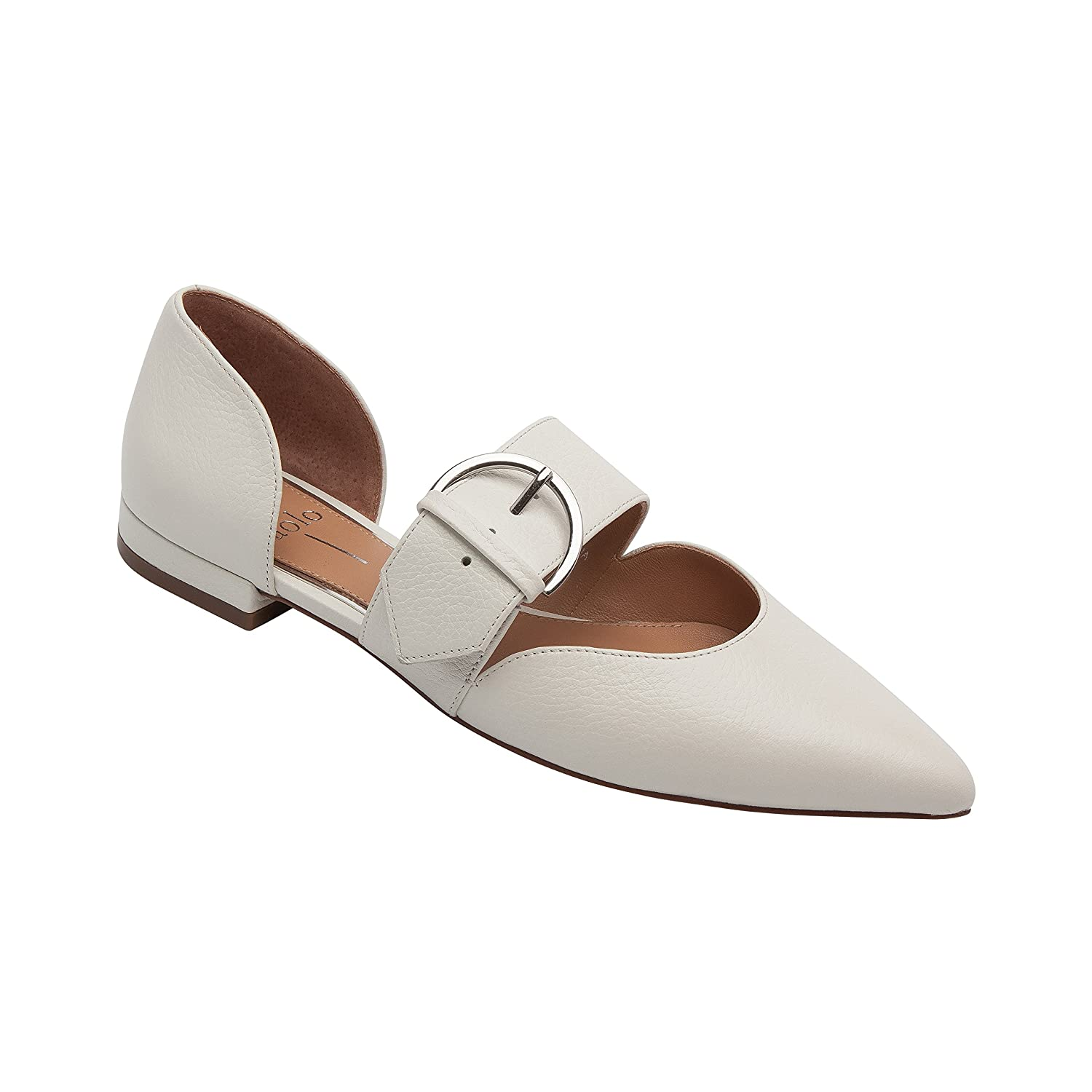 Dean | Women's Two Piece Pointy Toe Comfortable Leather or Suede Ballet Flat B079575PZY 8 M US|Ivory Leather