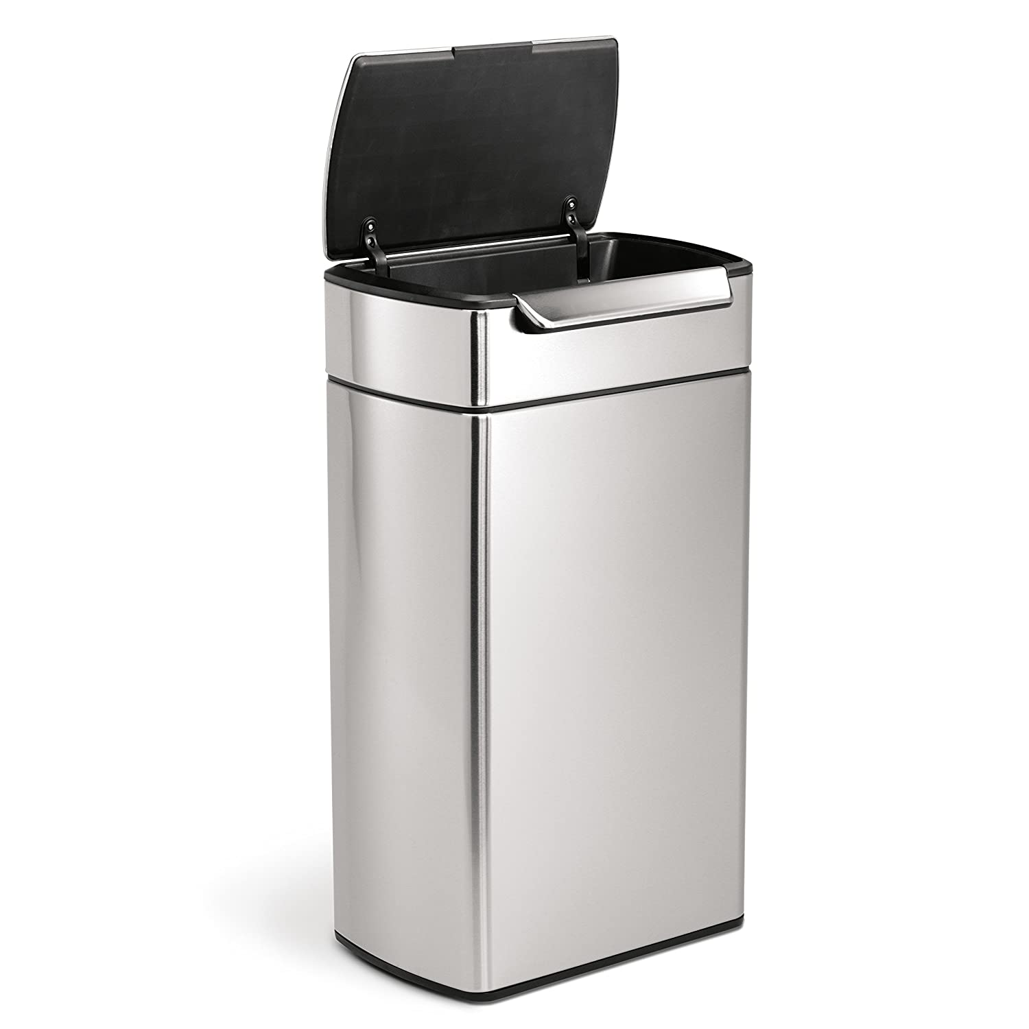 Kitchen Garbage Can Amazoncom Simplehuman Rectangular Touch Bar Trash Can Stainless