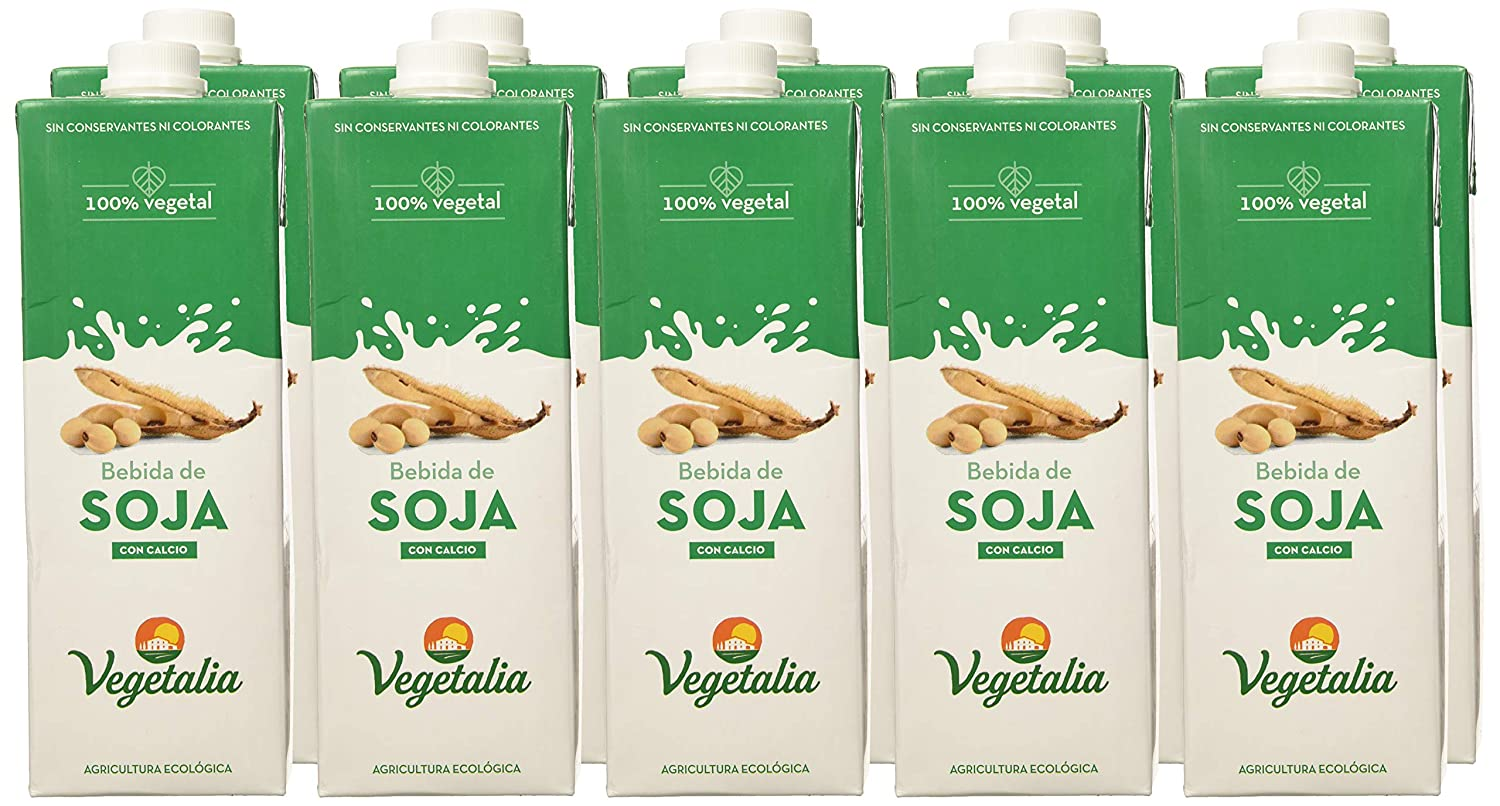 Vegetalia, Bebida de soja - 10 de 1000 ml. (Total 10000 ml ...