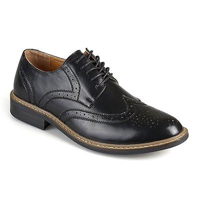 444c9b70b405 Vance Co. Mens Faux Leather Lace-up Oxford Derby Dress Shoes