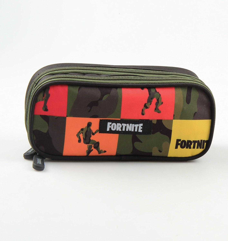 Fortnite - Estuche (tamaño XL, 2 compartimentos, 20 x 8,5 x 6 cm), multicolor: Amazon.es: Oficina y papelería