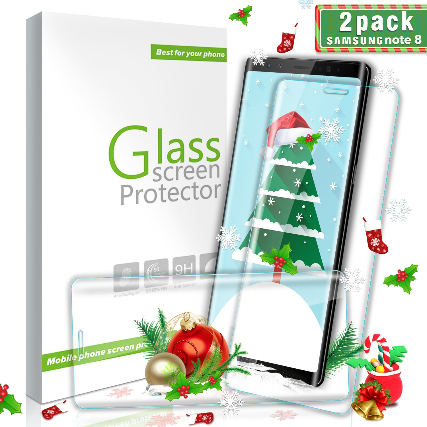 Amazon Suanna Galaxy Note 8 Glass Screen Protector [2Pack