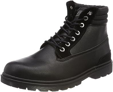 Urban Classics Winter Boots, Botas Chukka para Hombre, Negro (Black/Black 17), 47 EU