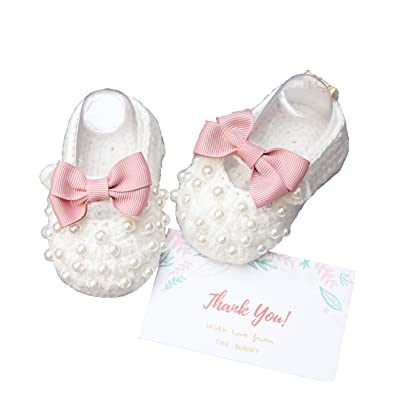 b2ca618f58bec Amazon.com   The Bunny Baby Shoes Handmade Crochet Shoes Girls ...