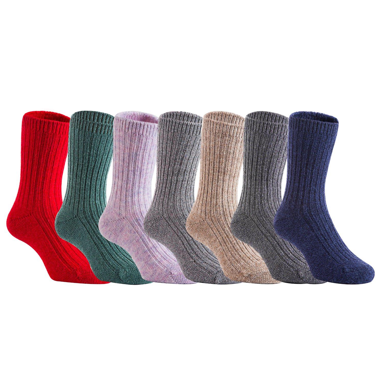 Lian estilo de vida los niños 3 o 6 pares calcetines de mezcla de lana suave 4 tamaños color al azar - - : Amazon.es: Ropa y accesorios