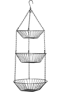 Premier Housewares 3 Tier Chrome Hanging Baskets, 28 X 71 Cm
