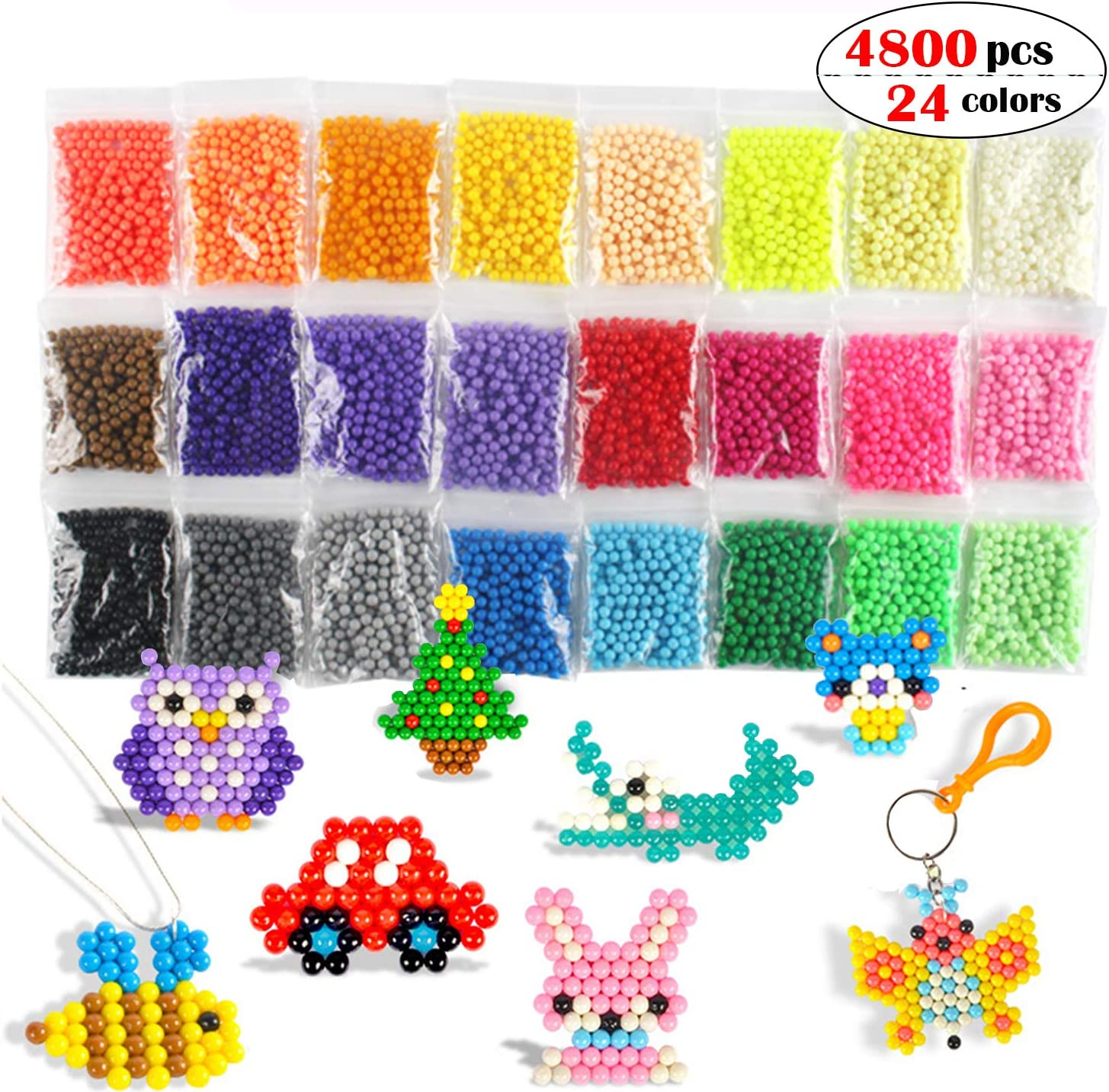 Aqua Fuse Beads - Juego de recambios para acuarios y abalorios de agua, no tóxico, seguro para manualidades, juguetes para niños, hecho a mano, STEM Kit educativo: Amazon.es: Juguetes y juegos