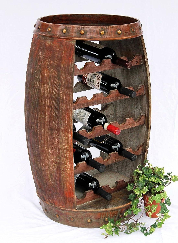 DanDiBo Weinregal Weinfass 0370-R Fass aus Holz H-81 cm ...