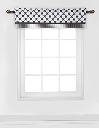 Amazon.com : Bacati - Dots/pin Stripes Black/white Window Valance ...