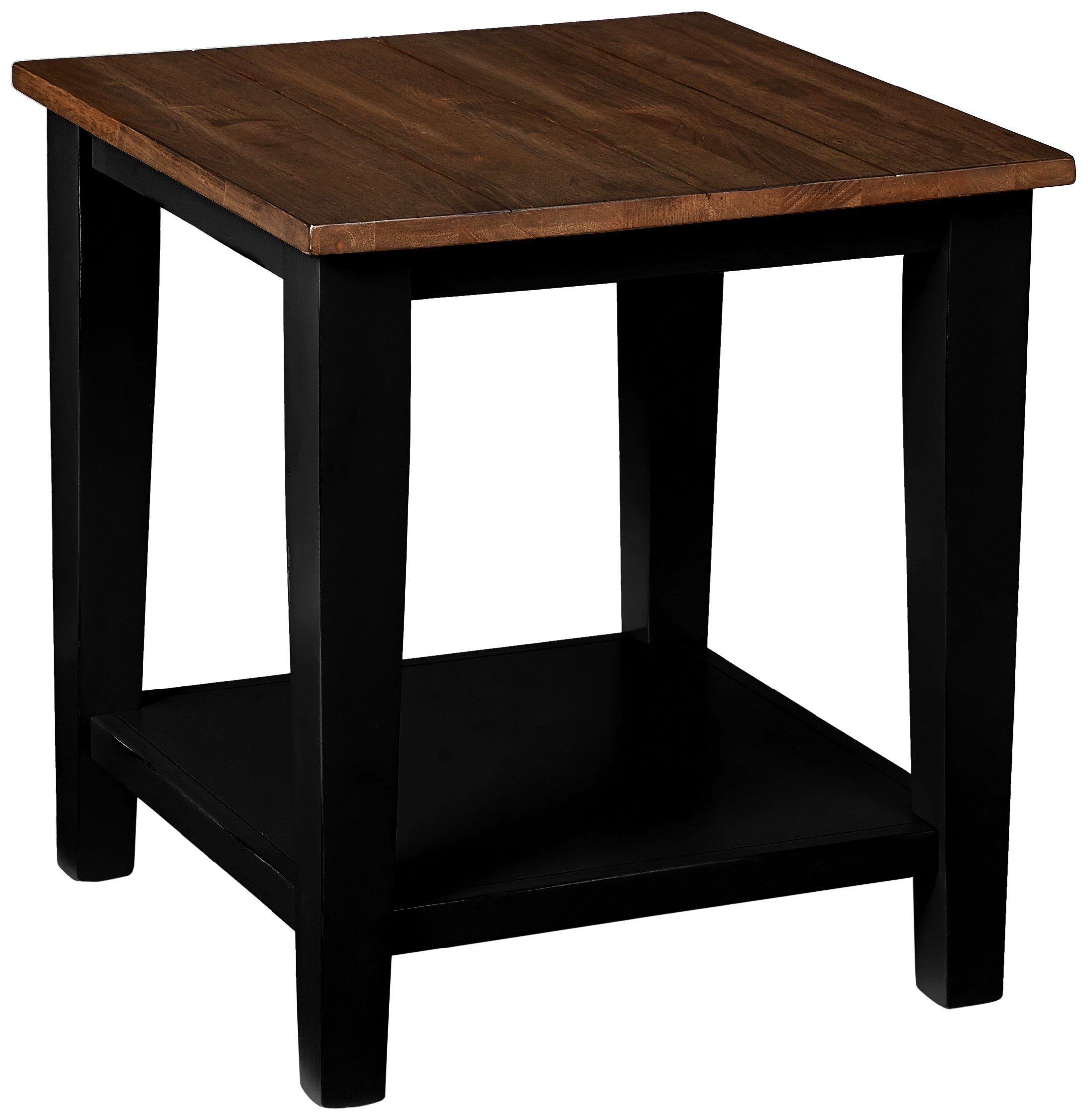 Simmons Casegoods 7558-47 End Table, Greige Black - PREMIUM valspar, Multi step Finish Vintage brown and Matte Black, slightly distressed finishes Sturdy Construction - living-room-furniture, living-room, end-tables - 81R NOyF2kL -