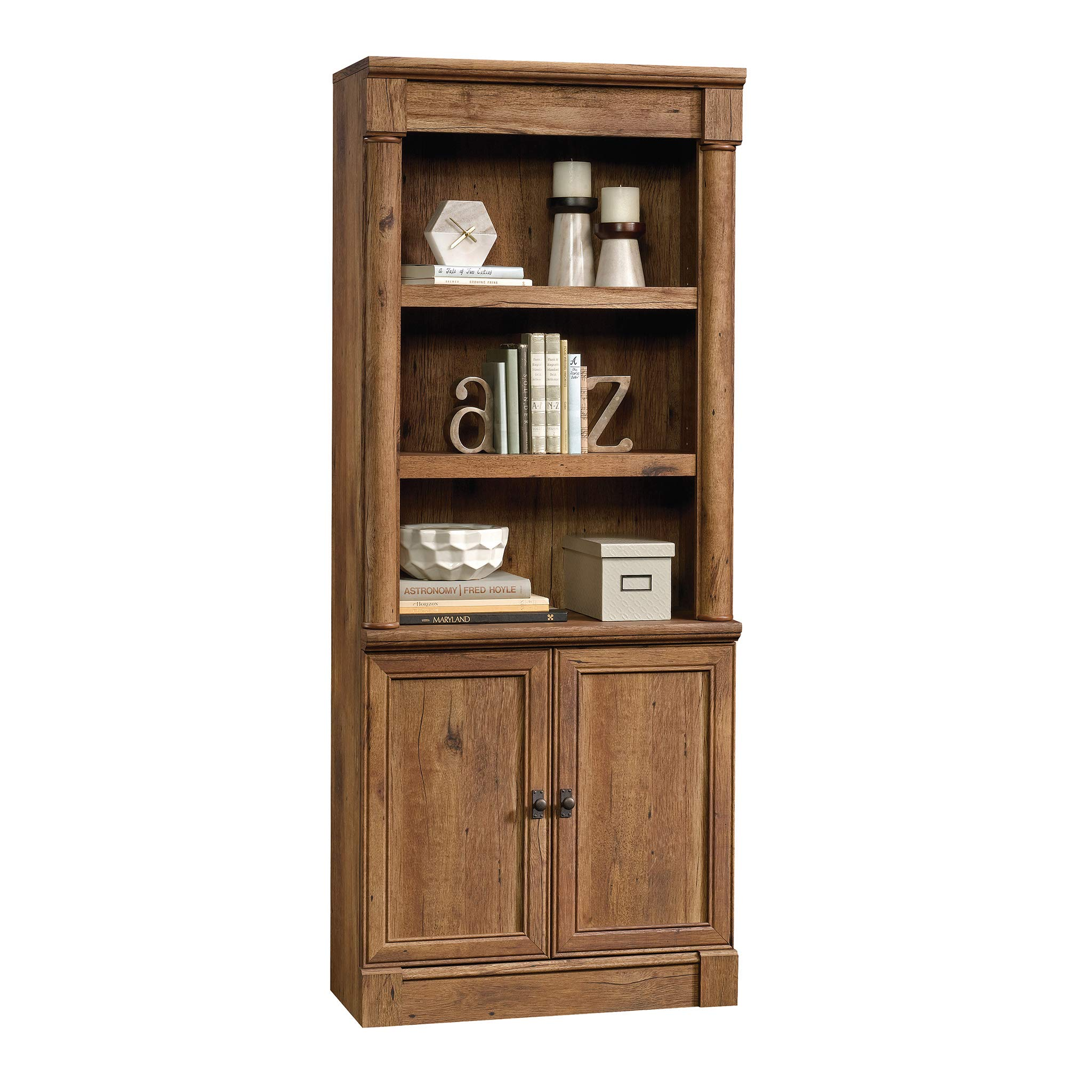 Sauder 420609 Palladia Library with Doors, L: 29.37'' x W: 13.90'' x H: 71.85'', Vintage Oak finish by Sauder (Image #11)