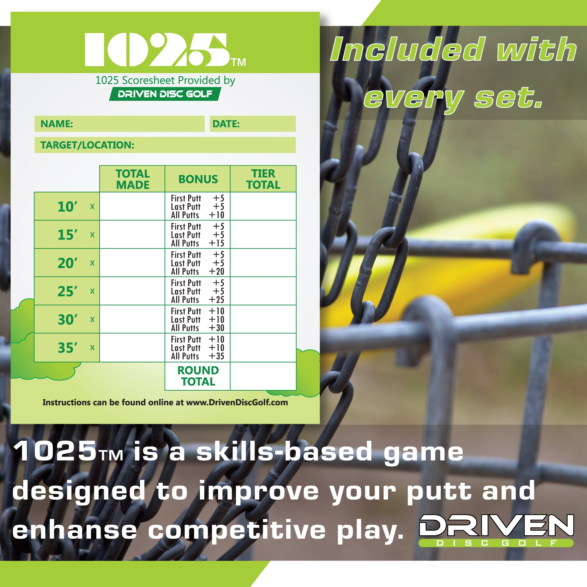 Innova Disc Golf Advanced Players Pack | Premium 4 Disc Set - for Intermediate and Experienced Players - 1025 Putting Game - Flight Reference Card - Driven Mini Marker | Disc Colors Vary by Driven Disc Golf (Image #4)
