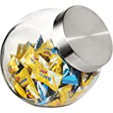 Glass Jar with Screw on Lid - Food, Candy, Pet Food, Cookies, Dry Food Storage, with Screw on Lid - 58oz