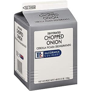 McCormick Culinary Dehydrated Chopped Onion, 3 lbs