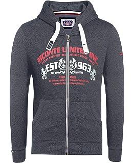 6eeb975133ee M.Conte Raul Herren Kapuzen-Sweatshirt Kapuzenpullover Hoodie Sweatshirt- jacke Slim Fit Sweatjacke