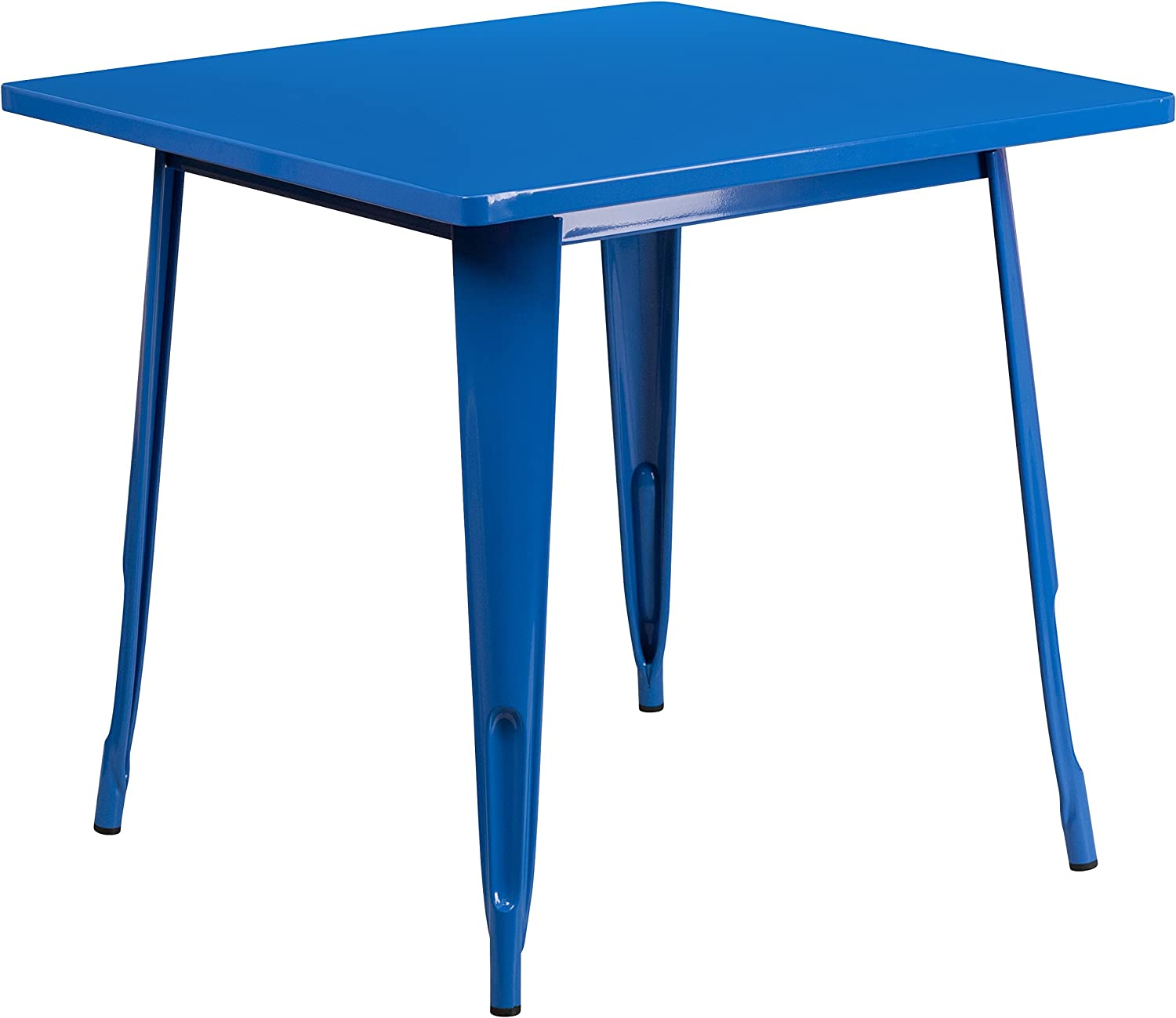 Flash Furniture 31.5'' Square Blue Metal Indoor-Outdoor Table