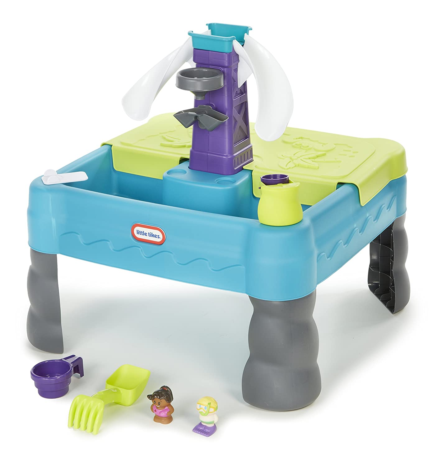 Amazon.com: Little Tikes Sandy Lagoon Waterpark Play Table, Teal ...
