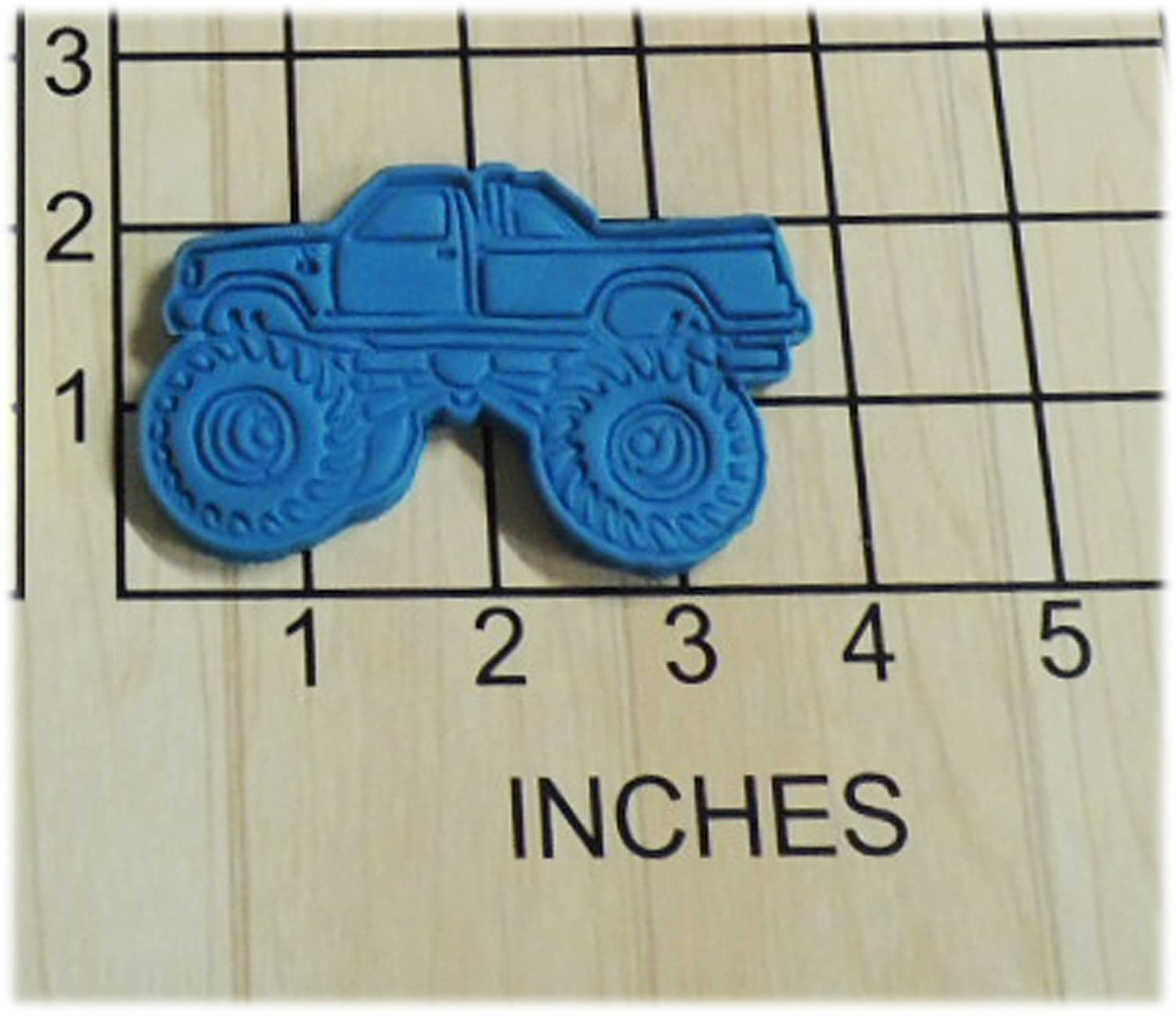 Amazon Com Mudding Monster Truck Shaped Cookie Cutter And Stamp 1265 Handmade