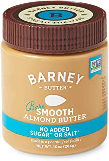 product image for BARNEY Almond Butter, Bare Smooth, No Sugar No Salt, Paleo, KETO, Non-GMO, Skin-Free, 10 Ounce