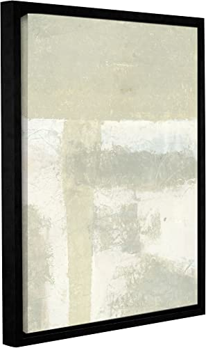 ArtWall Elana Ray's Neutral Abstract Gallery Wrapped Floater Framed Canvas