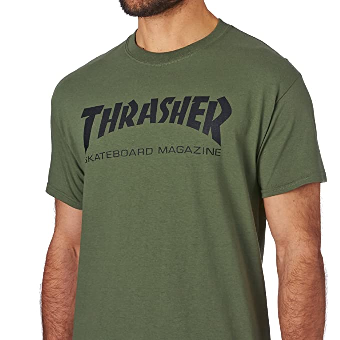 5d566708ca64 Amazon.com  Thrasher T Shirt Skate Mag Short Sleeve T-Shirt  Clothing