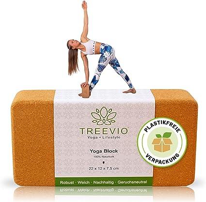 Yoga Block aus Kork Yogablock Naturkork öko Yogaklotz Pilates Yoga Unterstützung