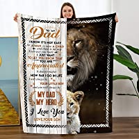 """TURMTF Throw Blanket for My Dad Gift from Son-Father's Day Birthdays Christmas Bed Blanket(to My Dad,Son, Size:50""""x60"""")"""