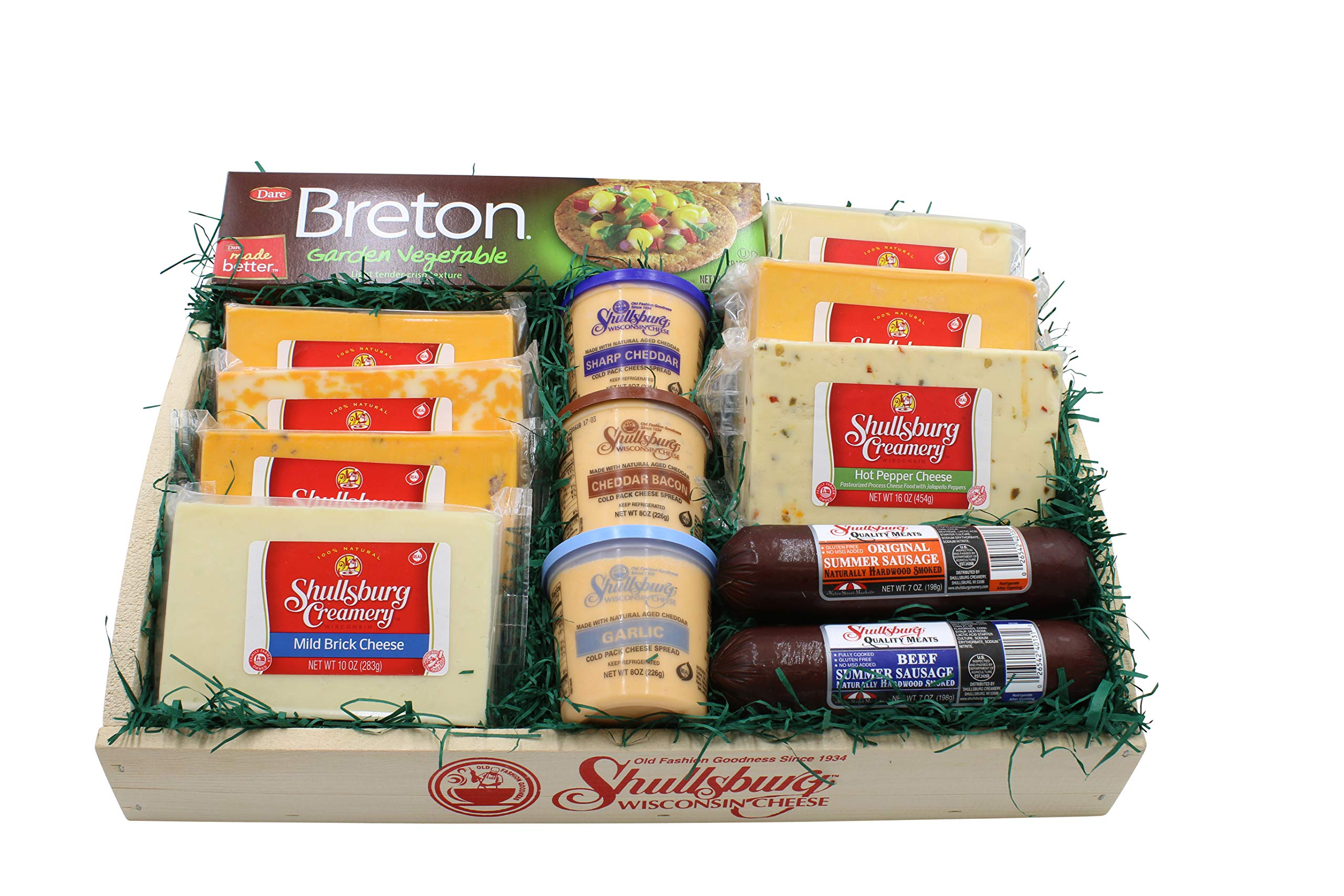 Shullsburg Creamery Family Size Cheese and Sausage Tray