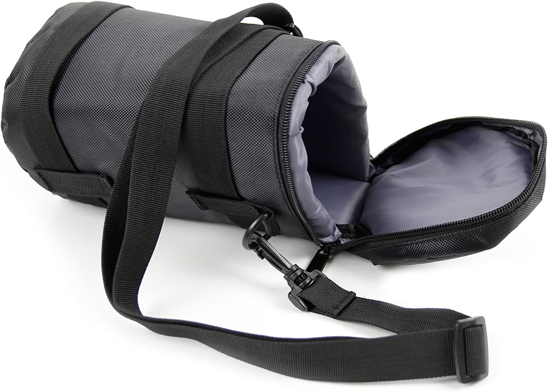 Compatible with Nikon AF-S Nikkor 20mm f//1.8G ED AF-S DX Zoom-Nikkor 55-200mm /& Nikkor AF 50 mm f//1.8G DURAGADGET Black Water-Resistant Carry Bag