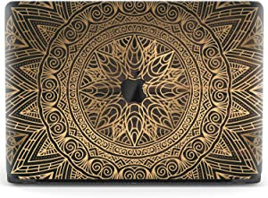 Mertak Hard Case Compatible with MacBook Pro 16 Air 13 inch Mac 15 Retina 12 11 2020 2019 2018 2017 Laptop Mandala Classy Bohemian Texture Wooden Print Cover Plastic Clear Touch Bar Luxury