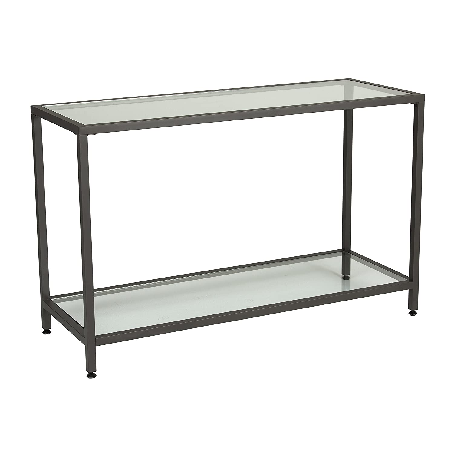 Amazon studio designs home 710010 camber console table in amazon studio designs home 710010 camber console table in pewter with clear glass kitchen dining geotapseo Gallery
