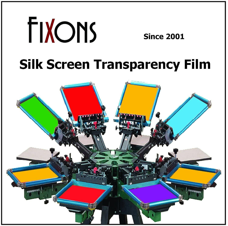 Waterproof Inkjet Screenprinting Film, Silkscreen Film 17 x 22 (100 Sheets) Fixons FXN-WPPF1722