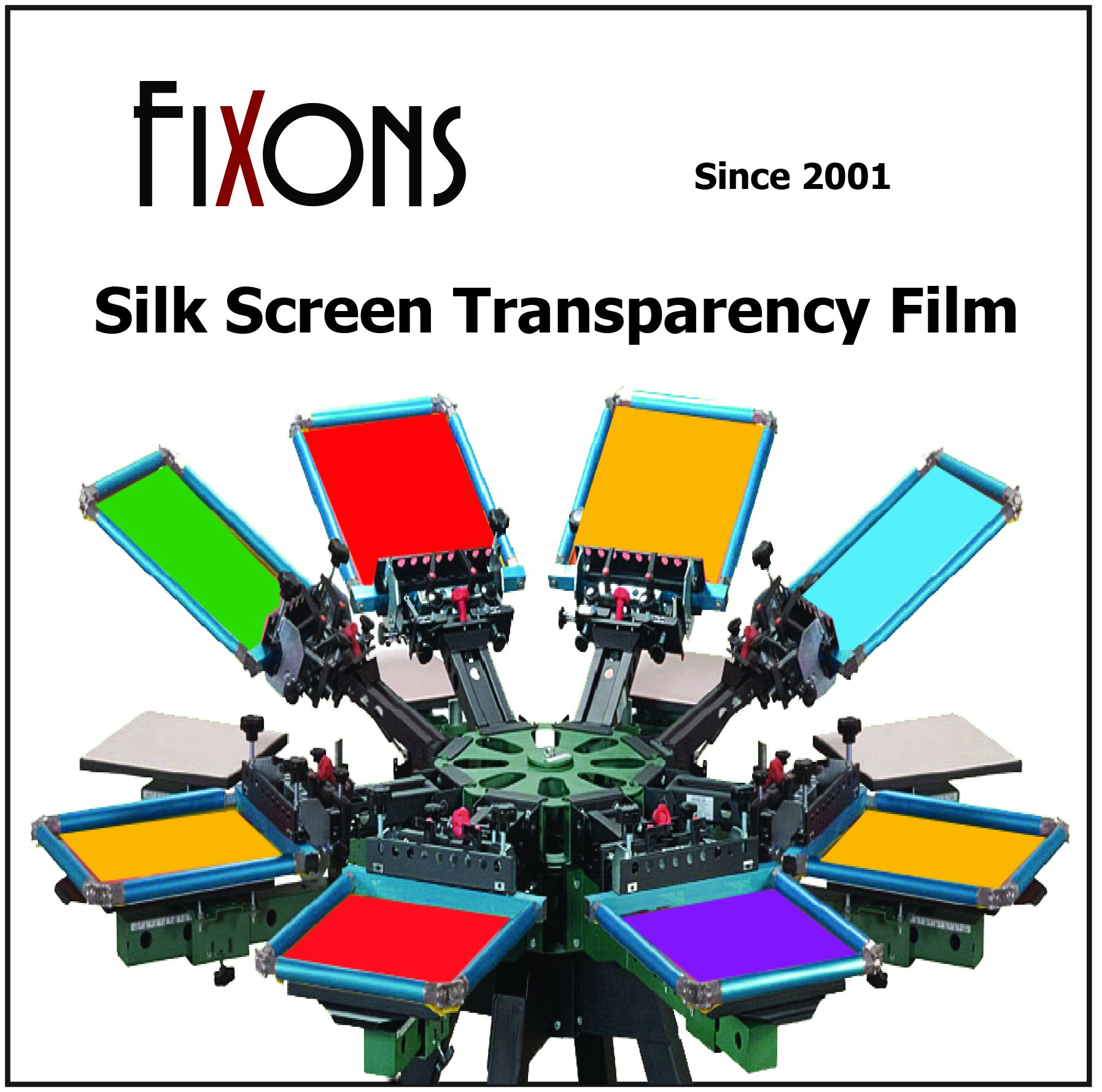 Waterproof Inkjet Screenprinting Film, Silkscreen Film 13 x 19 (50 Sheets) by FXN