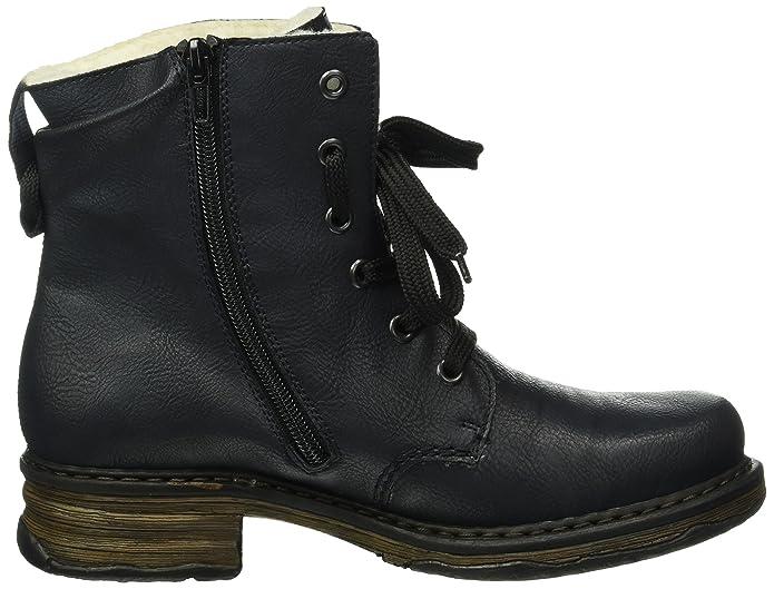 Rieker Damen Z9932 Kurzschaft Stiefel, Blau (OzeanKastanie