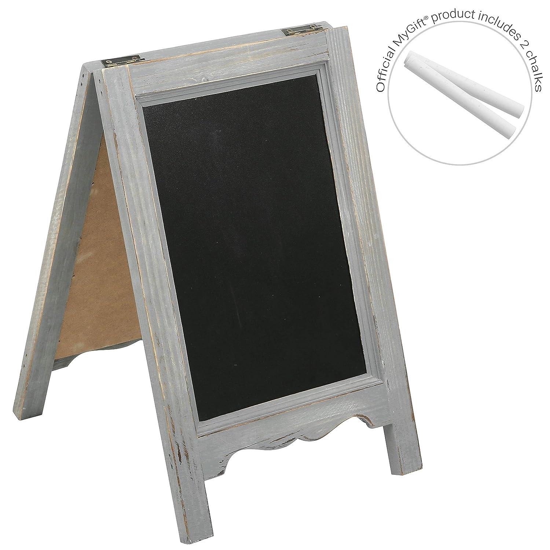 Amazon.com: 15 inch mesa A-Frame de madera doble cara ...
