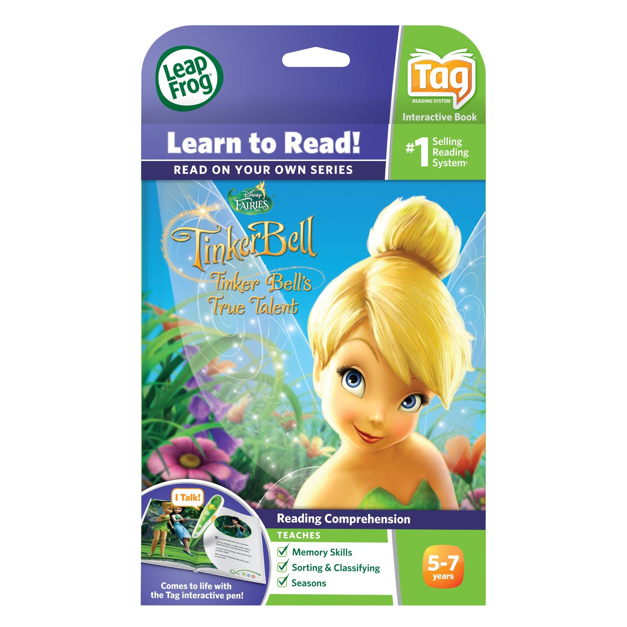 LeapFrog LeapReader Book: Disney Fairies Tinker Bell's True Talent (works with Tag) by LeapFrog (Image #4)