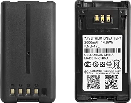 Kenwood KNB-48L high capacity battery for NX-200 NX-300 P25 TK5220 TK5320