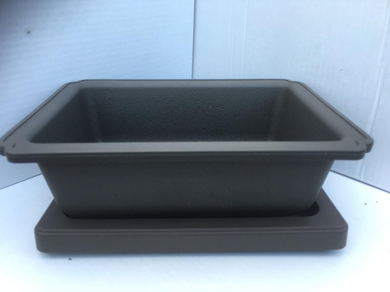 17.5cm Plastic Bonsai Pot With Matching Tray bonsai2u